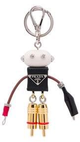 Prada Edward Saffiano Leather Keychain Trick