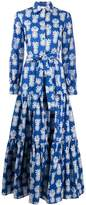 La DoubleJ pineapple print shirt dress