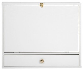 Latitude Run Ciprian Floating Desk Color: White