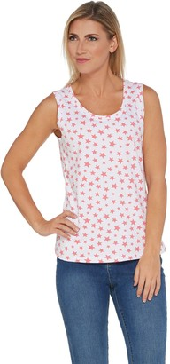 Denim & Co. Active Perfect Jersey Star Print Knit Tank