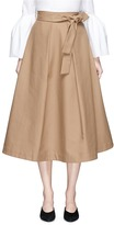 Co Belted high waist A-line midi skirt