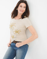 Chico's Embellished Palm Tree Tee