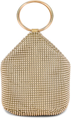 Olga Berg Bianca Ball Mesh Handle Bag