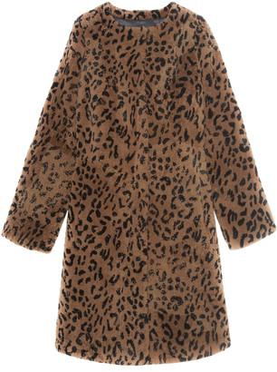 Pologeorgis The Tana Leopard-Print Shearling Coat