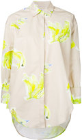 MSGM embroidered shirt - women - Cotton - 38