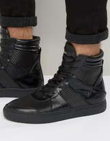 Religion Zipper Hi Top Sneakers