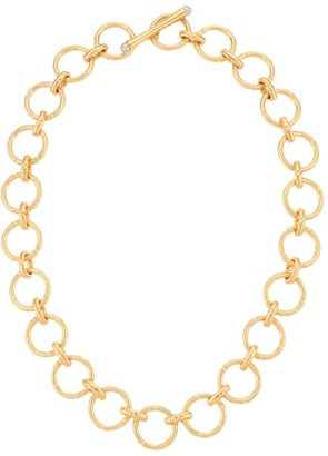 "Dean Davidson 22"" Yellow Goldplated & Labradorite Bamboo Motif Chain Necklace"