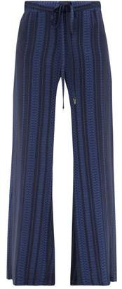ZEUS + DIONE Alcestes Silk-blend Crepe Palazzo Trousers - Womens - Blue