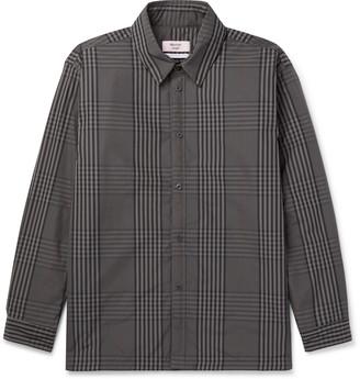 Martine Rose Hakkasan Padded Checked Cotton-Blend Blouson Jacket - Men - Gray