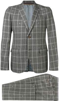Gucci two-piece check suit