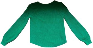 Green Cotton Non Signe / Unsigned Oversize Knitwear for Women