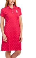U.S. Polo Assn. Bright Rose Dot Dress