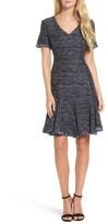 Eliza J Petite Women's Short Sleeve Fit & Flare Dress