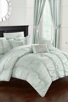 Voni Pleated & Ruffled Bed in a Bag 10-Piece Complete Comforter Set - Green