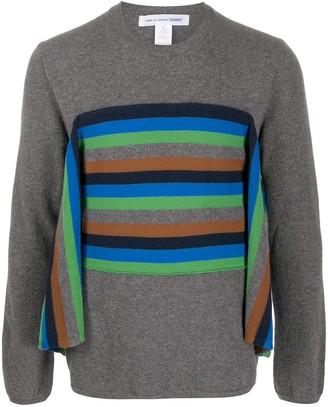 Comme des Garçons Shirt Striped Knit Jumper