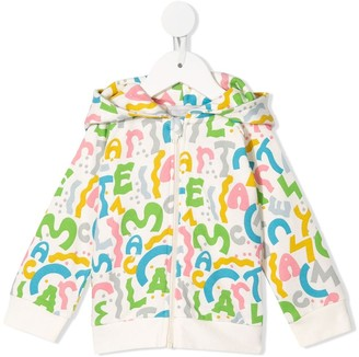 Stella McCartney Kids Logo-Print Zipped Hoodie