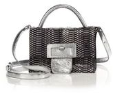 Maison Margiela Medium Top-Handle Snake & Metallic Leather Shoulder Bag