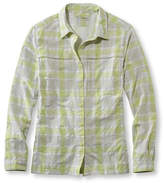 L.L. Bean Misses' Tropicwear Shirt, Plaid Long-Sleeve