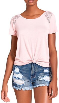 Steve Madden Knotted Tee Blush