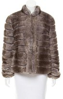 Armani Collezioni Rabbit Fur Coat w/ Tags