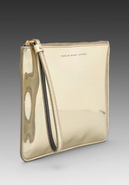 Marc by Marc Jacobs Techno Wrist Zip Pouch in Pale Gold Holographic