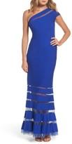 Tadashi Shoji Women's One Shoulder Illusion Gown