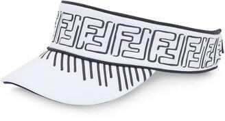 Fendi x Joshua Vides FF motif visor hat
