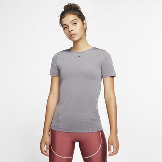 Nike Women's Short-Sleeve Mesh Training Top Pro