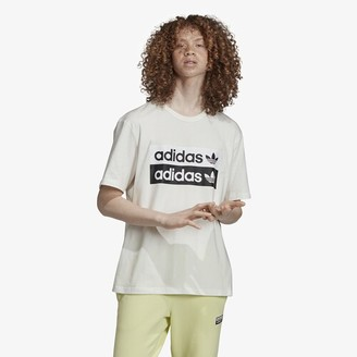 adidas Reveal Your Voice Logo T-Shirt - Core White / Black