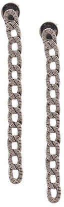 Anita Ko 18kt White Gold Long Diamond Chain Link Earrings