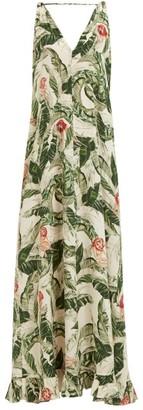 Cult Gaia Adriana Degreas X X Tropical Print Crepe Maxi Dress - Womens - Green