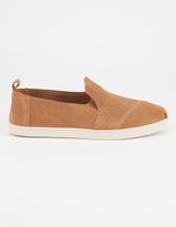 Toms Deconstructed Alpargata Womens Suede Slip-Ons