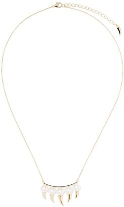 TASAKI 18kt yellow gold Danger Fang Akoya pearl and diamond necklace
