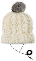 Rebecca Minkoff Real Fur-Trimmed Hand Knit Beanie