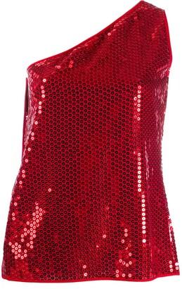 Dolce & Gabbana Pre Owned 1990s Sequin Embellished One-Shoulder Blouse