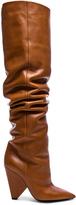 Saint Laurent Leather Niki Thigh High Boots