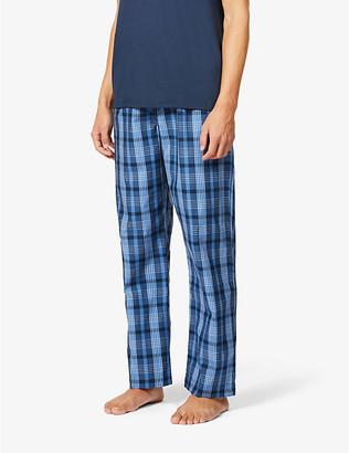 Derek Rose Barker check cotton pyjama trousers