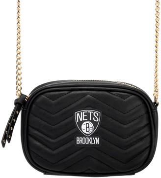 Unbranded Women's Black Brooklyn Nets Crossbody Bag