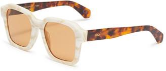 Super Acetate frame square sunglasses