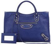 Balenciaga Classic Chevre Grainee City Bag, Blue