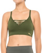 Puma Seamless Lattice Front Sports Bra - Removable Padded Cups, Low Impact, Racerback (For Women)