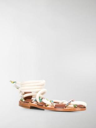 Lanvin Full Sun flat sandals