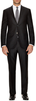 Corneliani Birds Eye Silk Notch Lapel Suit