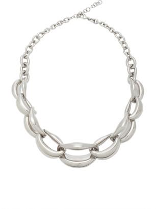 Oscar de la Renta Bold Chain Link Aluminum Necklace