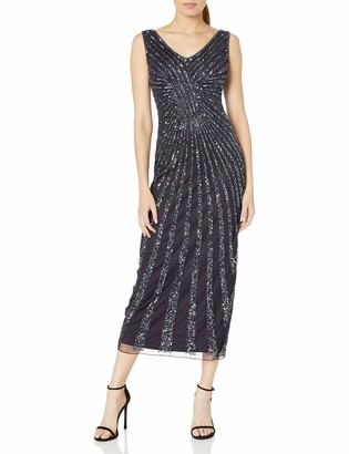 Pisarro Nights Women's V Neck Sequin Sheath Dress