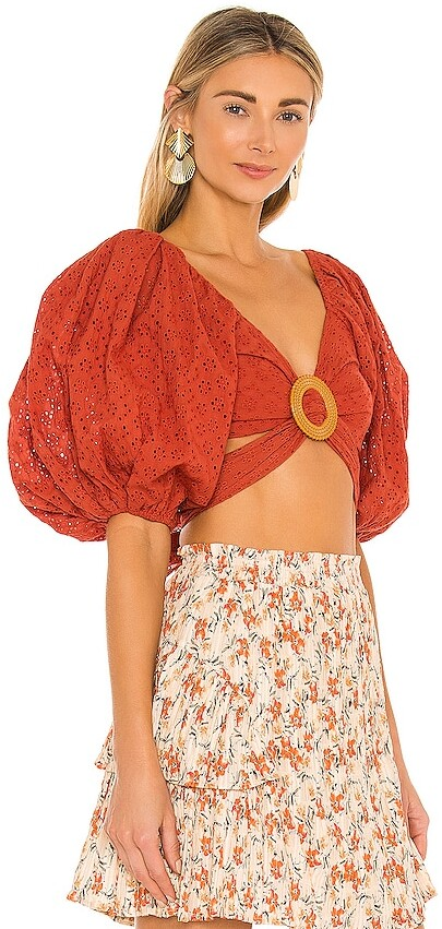 Thumbnail for your product : MinkPink Serella Wrap Top