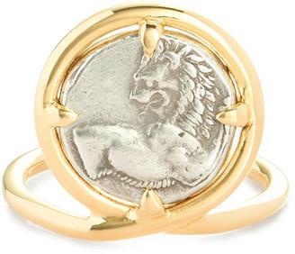 Dubini 18k Chersonesos Lion Ring, Size 6