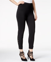 Material Girl Juniors' Lace-Up-Detail Pull-On Pants, Only at Macy's
