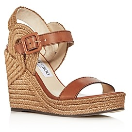 Jimmy Choo Women's Delphi 100 Espadrille Wedge Sandals
