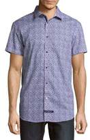 English Laundry Printed Cotton Button-Down Shirt